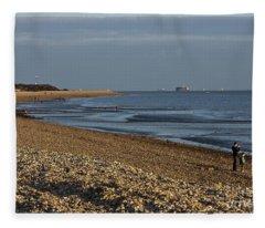 Stokes Bay England Fleece Blanket