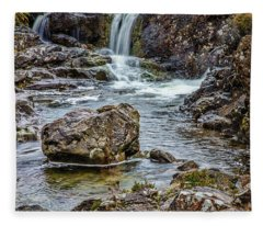 Stone And Waterfall #h5 Fleece Blanket