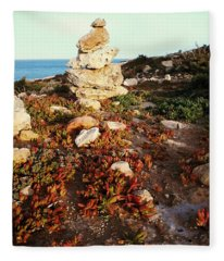 Stone Balance Fleece Blanket