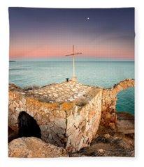 Stone Chapel Fleece Blanket