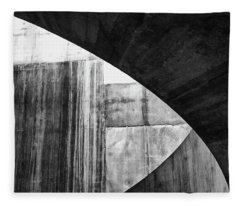 Stone Circle Meets Square Fleece Blanket