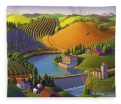Stone City West Fleece Blanket