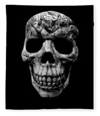 Stone Cold Jeeper Skull No. 1 Fleece Blanket