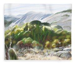 Stone Mountain Musings Fleece Blanket