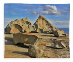 Stone Sculpture Fleece Blanket