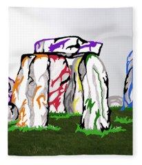 Stonehenge Chakras Fleece Blanket