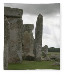 Stonehenge Side Pillars Fleece Blanket