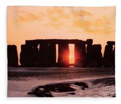 Stonehenge Winter Solstice Fleece Blanket