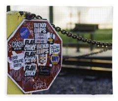 Stop Sign Ala New Orleans, Louisiana Fleece Blanket
