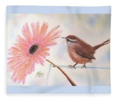Stopping By To Say Hello Fleece Blanket