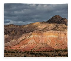 Storm Above Ghost Ranch Mountains Fleece Blanket