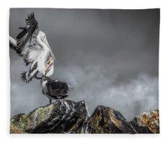 Storm Birds Fleece Blanket