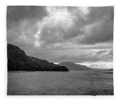 Storm On The Isle Of Skye, Scotland Fleece Blanket