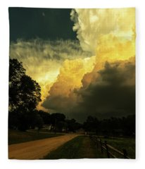 Storm Clouds Fleece Blanket
