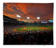 Storm Clouds Over Fenway Park Fleece Blanket