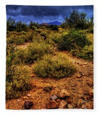 Storm Clouds Over The Sonoran Desert In Spring Fleece Blanket