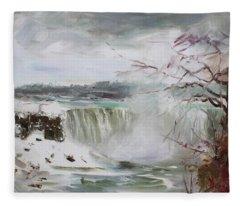 Storm In Niagara Falls  Fleece Blanket