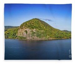 Storm King Mountain From Breakneck Ridge Fleece Blanket