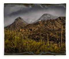 Storm Over Catalinas 15 Fleece Blanket