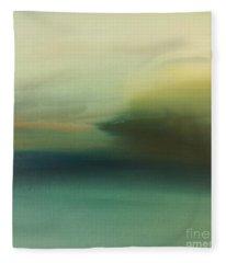 Storm Over Cuba Fleece Blanket