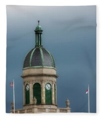 Storm Over Dome Fleece Blanket