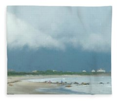 Storm Over Goosewing Fleece Blanket