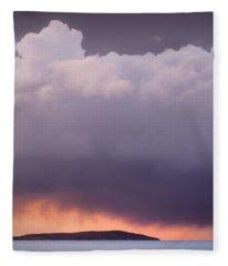 Storm Over Gruinard Bay Fleece Blanket