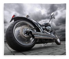 Storming Harley Fleece Blanket
