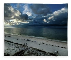 Storms Over The Gulf Of Mexico Fleece Blanket