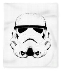Stormtrooper Helmet Star Wars Tee Black Ink Fleece Blanket