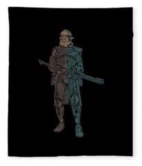 Stormtrooper Samurai - Star Wars Art - Minimal Fleece Blanket