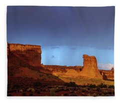 Stormy Desert Fleece Blanket