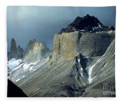 Stormy Light Over Los Cuernos Del Paine  Fleece Blanket