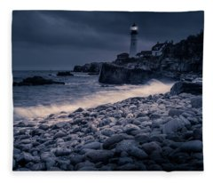 Stormy Lighthouse 2 Fleece Blanket