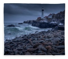 Stormy Lighthouse Fleece Blanket