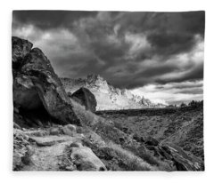 Stormy Misery Ridge  Fleece Blanket