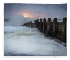 Stormy Morning Fleece Blanket