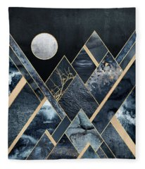 Stormy Mountains Fleece Blanket