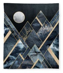 Stormy Mountains Fleece Blanket