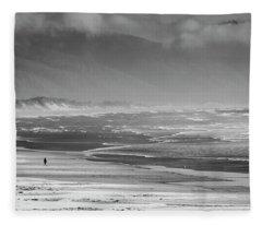 Stormy Oceanside Oregon Fleece Blanket