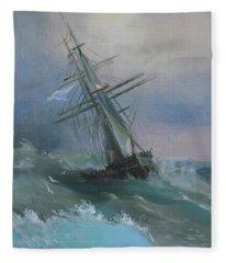 Stormy Sails Fleece Blanket