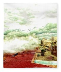 Stormy Sea Fleece Blanket