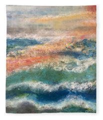Laguna Sunset Fleece Blanket