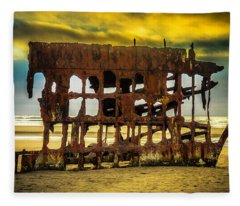 Stormy Shipwreck Fleece Blanket