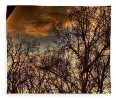 Stormy Sunset 14151 Fleece Blanket