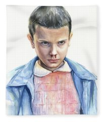 Stranger Things Eleven Portrait Fleece Blanket
