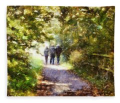 Strangers On A Footpath / In To The Light Fleece Blanket