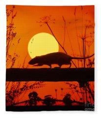 Stranglers Rattus Norvegicus Rat Fleece Blanket