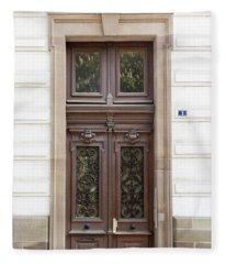Strasbourg Door 04 Fleece Blanket