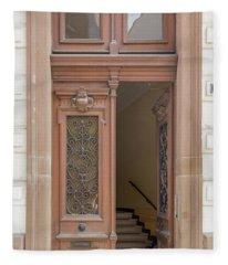 Strasbourg Door 05 Fleece Blanket